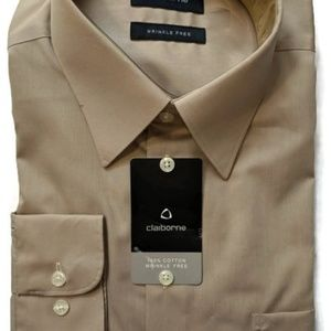 New With Tag Men's Brown Claiborne Dress Shirt